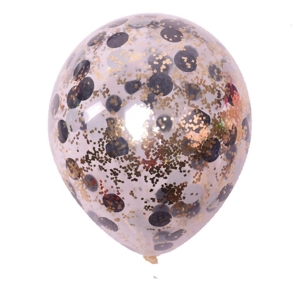 5 шт./лот золотые блестки воздушные шары конфетти Прозрачные Шары с днем рождения ребенка мультфильм шляпа Свадебная вечеринка украшения - Цвет: 4