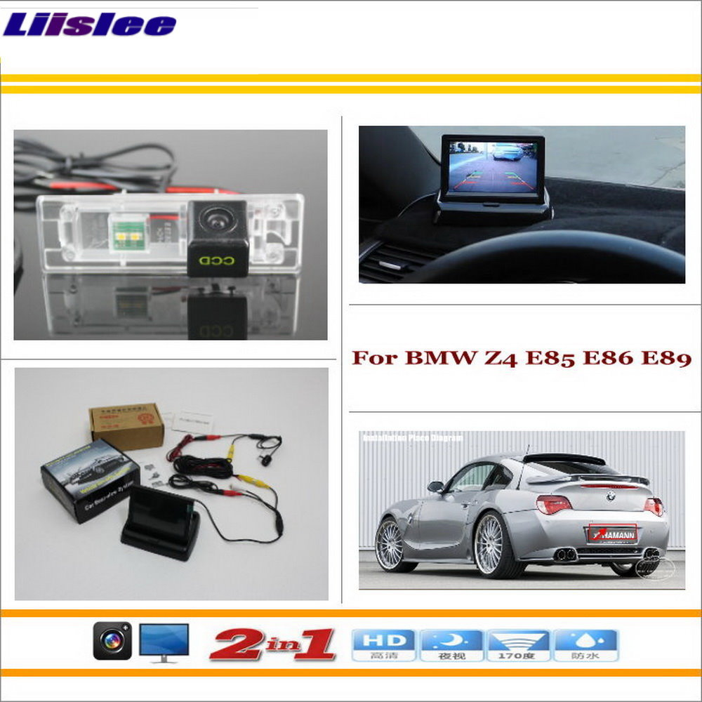Liislee For BMW Z4 E85 E86 E89 Car Rear Camera 4 3 TFT LCD Screen Monitor
