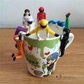 Frete grátis 1 pc varejo Super hero soldados Mini figura toy engraçado PVC planta suculenta bolo do copo decoração da fonte do partido kid presente