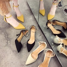 HKCP Teenage high heels for the 2019 summer new Korean edition go with pointy buckle sandals fashion fairy single shoe C102