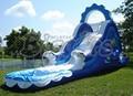 Бесплатная доставка по морю 10 м * 3 м * 4.5 м открытый гигантском пвх коммерческий водные горки с бассейном для детей