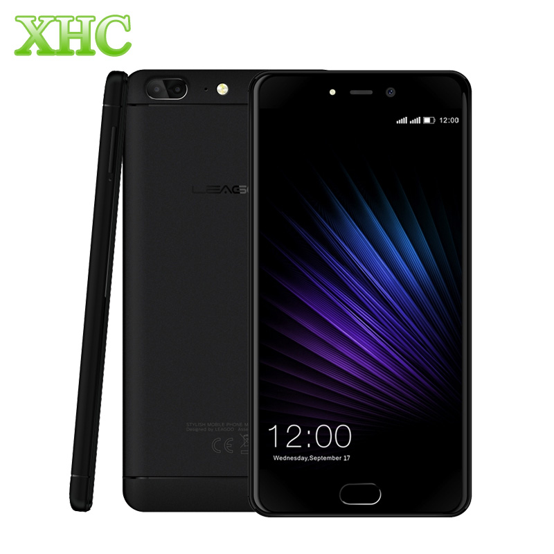 Original LEAGOO T5 Mobile Phone 4GB+64GB Dual Back Cameras Fingerprint 5.5'' MTK6750T Octa Core 1.5GHz 4G Dual SIM Smart phone