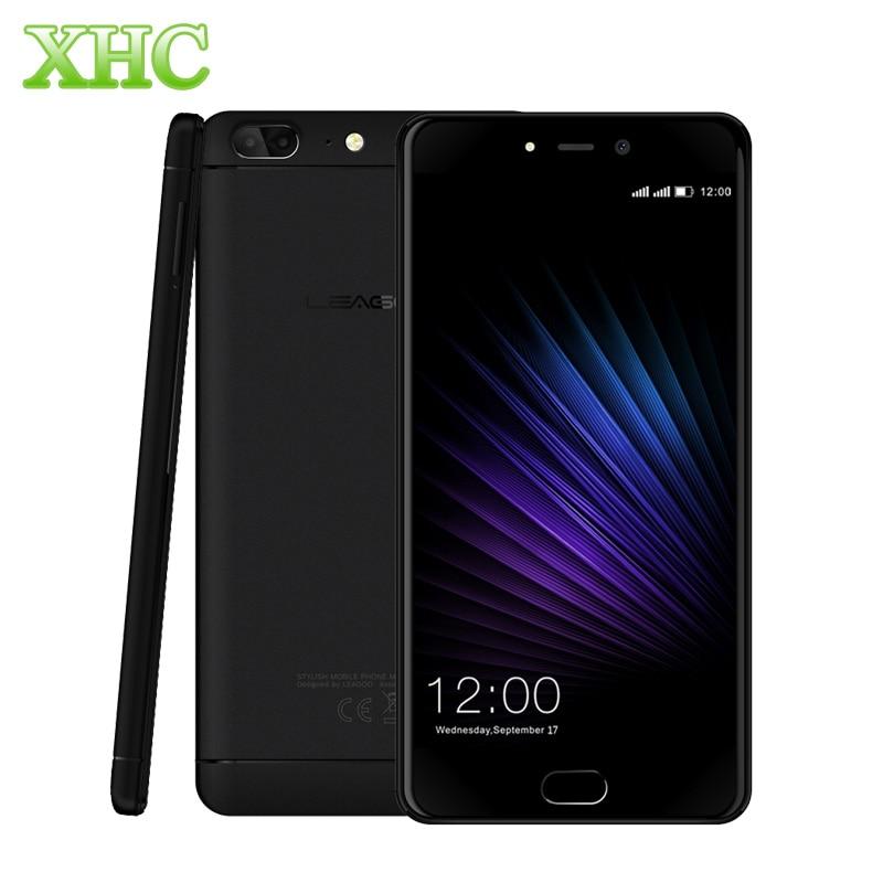 Original LEAGOO T5 Mobile Phone 4GB+64GB Dual Back Cameras Fingerprint 5.5'' MTK6750T Octa Core 1.5GHz 4G Dual SIM Smart phone