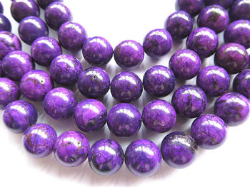 wholesale turquoise beads round ball dark puple assortment jewelry beads 10mm--10strands 16inch/per strand