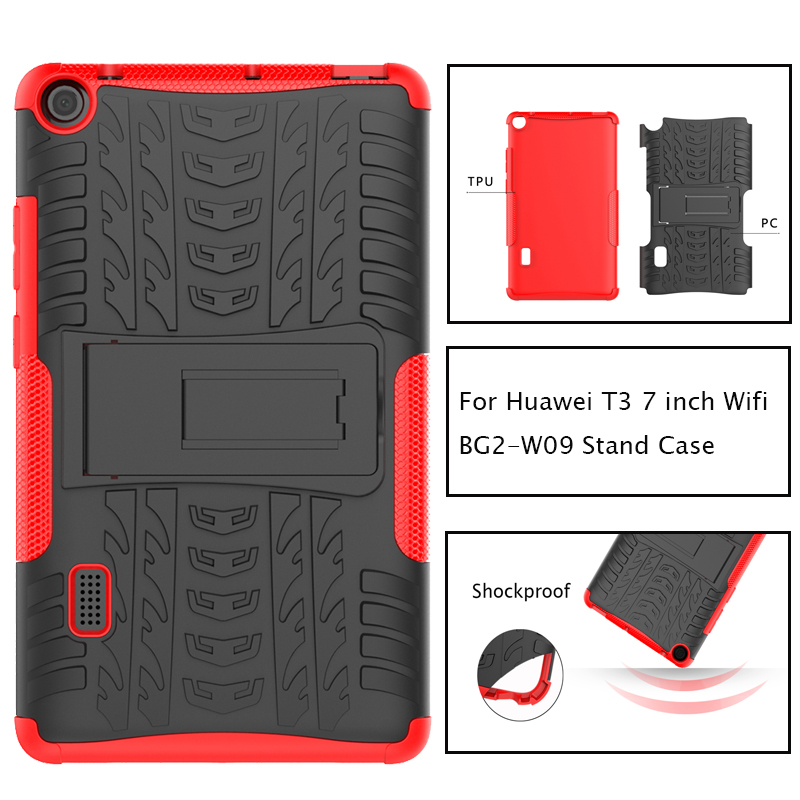 Hybrid Armor Kickstand Silicon Tablet Case for Huawei MediaPad T3 7 WiFi BG2-W09 7.0 inch Stand Shockproof Cover Funda CoqueHybrid Armor Kickstand Silicon Tablet Case for Huawei MediaPad T3 7 WiFi BG2-W09 7.0 inch Stand Shockproof Cover Funda Coque