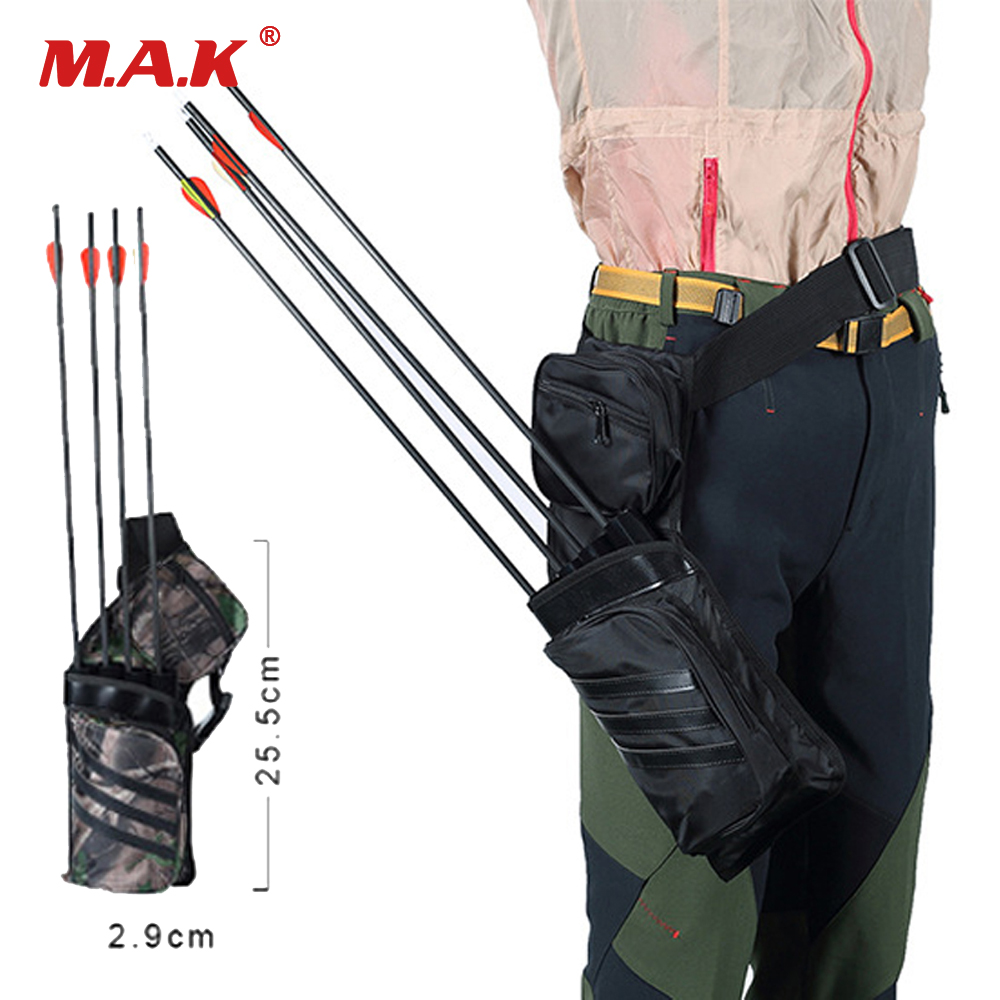 2 Color Waist Quiver Four Tube Quiver Detachable Pipe Adjustable Shoulder Strap And Belt Can Hold 30 Arrows For Archery Shooting