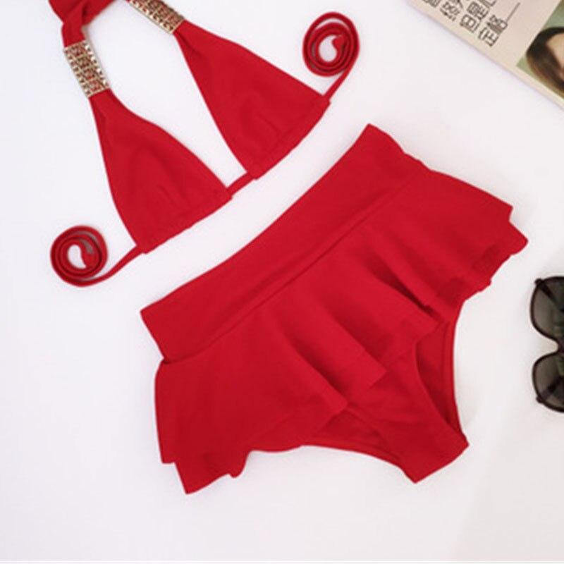 Сексуальные бикини Mujer купальный костюм с Пуш-Ап Танкини Купальники женские короткие юбки купальник женские бикини Para Mulheres