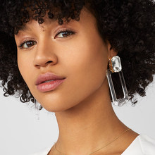 New 2019 Rectangle Transparent Acrylic Dangle Earring For Women Geometric Alloy Silver Statement Drop Earring Za Party Jewelry(China)