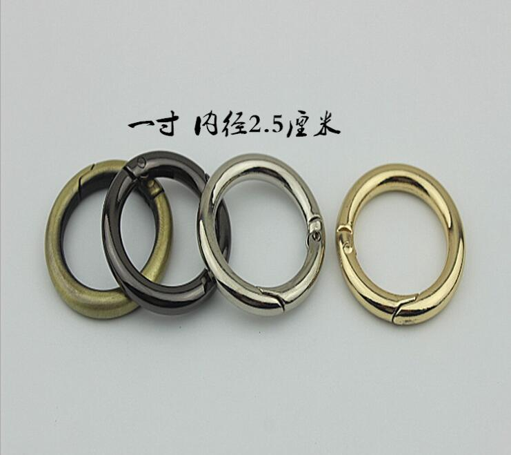 (10 PCS / lot) Bags Handbags Metal Diameter 2.5cm Spring Shoulder Strap Link Buckle Hardware Accessory ...