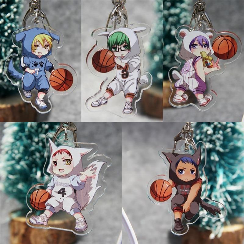 Anime Kuroko no basuke Basketball Acrylic Keychain Kagami Taiga Cartoon Cosplay Keyring Gift Halloween toy