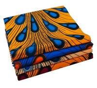 Peacock Fur Veritable Real Wax Prints 6yards Ankara Printed Fabric African Super High Quality 100 Cotton