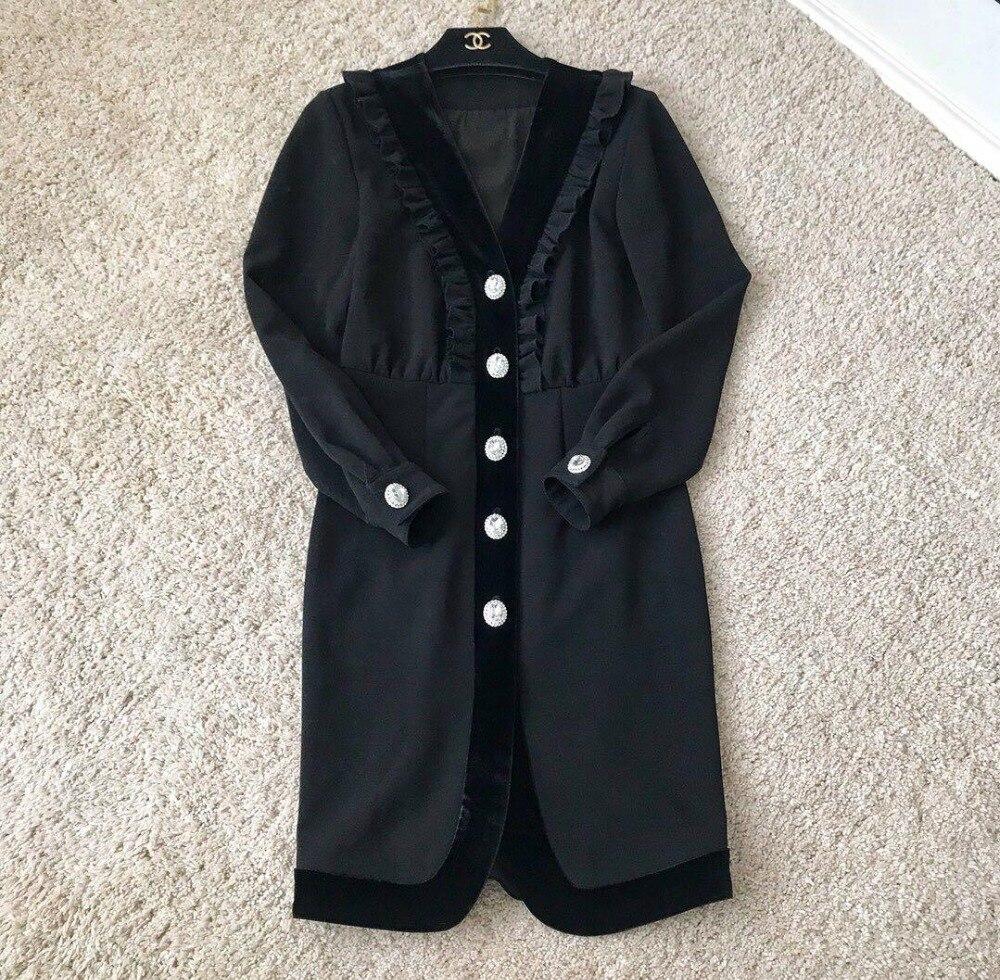 Et 19 D'été 0319 Nouvelle En Printemps Robe Velours Mode Couture q557vTW