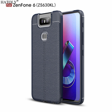 HATOLY Case For Asus Zenfone 6 ZS630KL Pattern PU Leather Dirty Resistant Soft TPU Silicon Back Cover