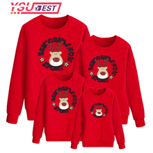 2018 Christmas Family Look Deer Mommy and Me Clothes Matching Family Clothing Sets Winter Mother Daughter Father Baby T-shirt