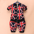 2015 new spring&Autumn 1-3 year baby clothing set Europe Style harem pants 1 set baby boy / girl clothing children clothing set