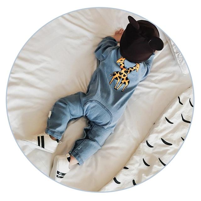 Fashion Denim Baby Romper Suit 1