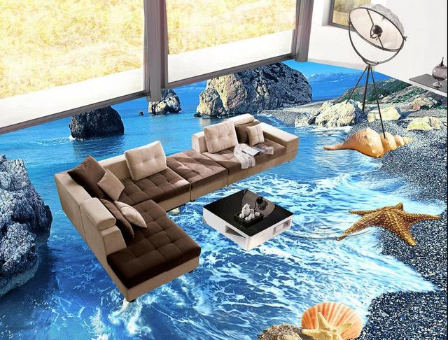 Customize 3d Floor Wallpaper For Living Room 3d Flooring
