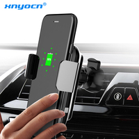 Xnyocn QI Fast Wireless Car Charger 10W Automatic Infrare Induction Air Vent Car Phone Holder for iPhone 8 Plus X Samsung Xiaomi