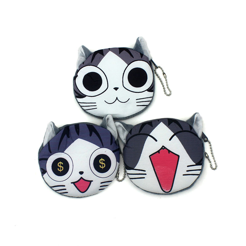 New Cartoon Chi's Zipper coin purses Cute Children Plush ladies small wallet bag key case women handbag Card Holders For Gift cute cartoon mini coin purse girls key case wallet children headset bag coin bag zipper handbag children gifts piggy pecs