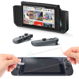 Image 3 - Nintend Switch Accessories Handle Grip Case Nintendoswitch Screen Protector Glass Film Nitendo Switch Silicone Cover for NS Bag