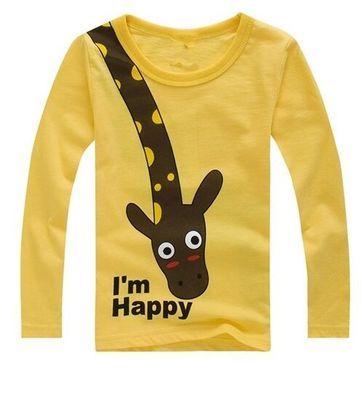 Camisetas de manga larga para niños con dibujos animados de animales lindos camisetas informales para niños de primavera y otoño ropa para niños