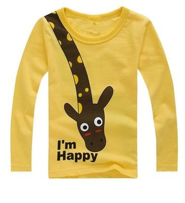 Long Sleeve Children T Shirts Cute Animal Cartoon Boys T-Shirts Cute Casual Boy Tees Spring Autumn Children Kids Clothes