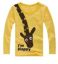 Long Sleeve Children T Shirts Cute Animal Cartoon Boys T-Shirts Casual Boy Tees Spring Autumn Kids Clothes