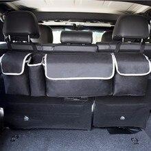 Car Trunk Organizer Adjustable Backseat Storage Bag High Capacity Multi-use Oxford Car Seat Back Organizers Interior Accessories
