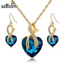 Nádherný set – náhrdelník a náušnice s krystaly v různých barvách