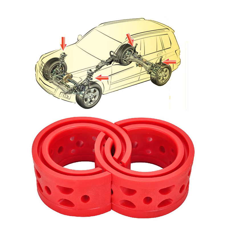 Jinke 1pair Size-D 1Pair Size A+ Shock SEBS Bumper Power Cushion Absorber Spring Buffer For Mitsubishi Pajero Sport 2016-2017