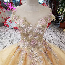 AIJINGYU Luxury Crystal With Sleeves Gown Wedding Dresses