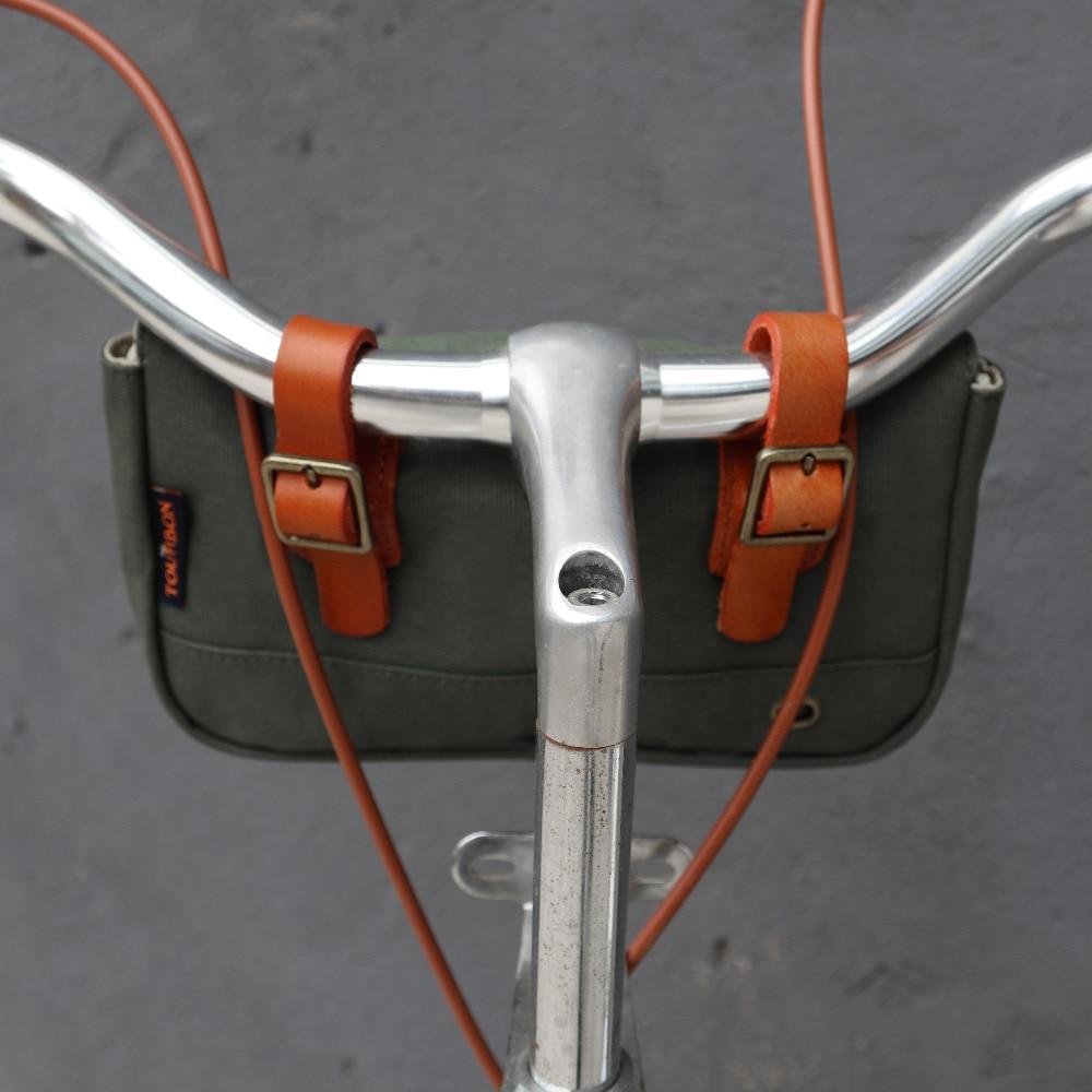 Turbon Retro kətan Velosiped qol çantası boru çantası yastıq - Velosiped sürün - Fotoqrafiya 2