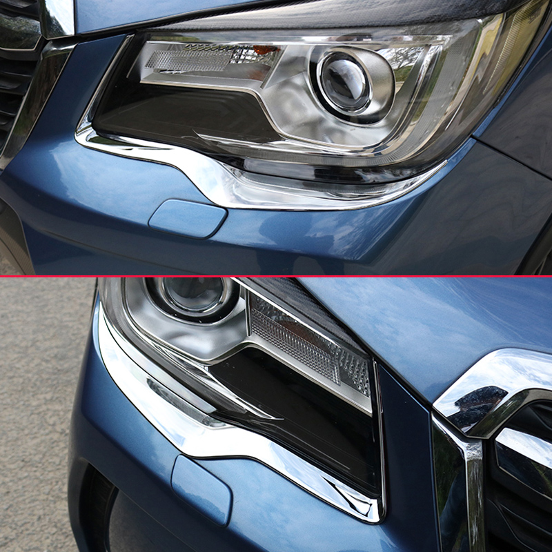 Head Light Cover For Subaru Forester Sj 2017 2016 2018 Chrome Front Lamp Headlight Trims Styling Eyebrow In Chromium From Automobiles