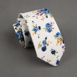 RBOCOTT Floral Ties For Men Printed Cotton Tie Mens Ties 6cm Slim Neck Tie Skinny Necktie For Wedding Party 3