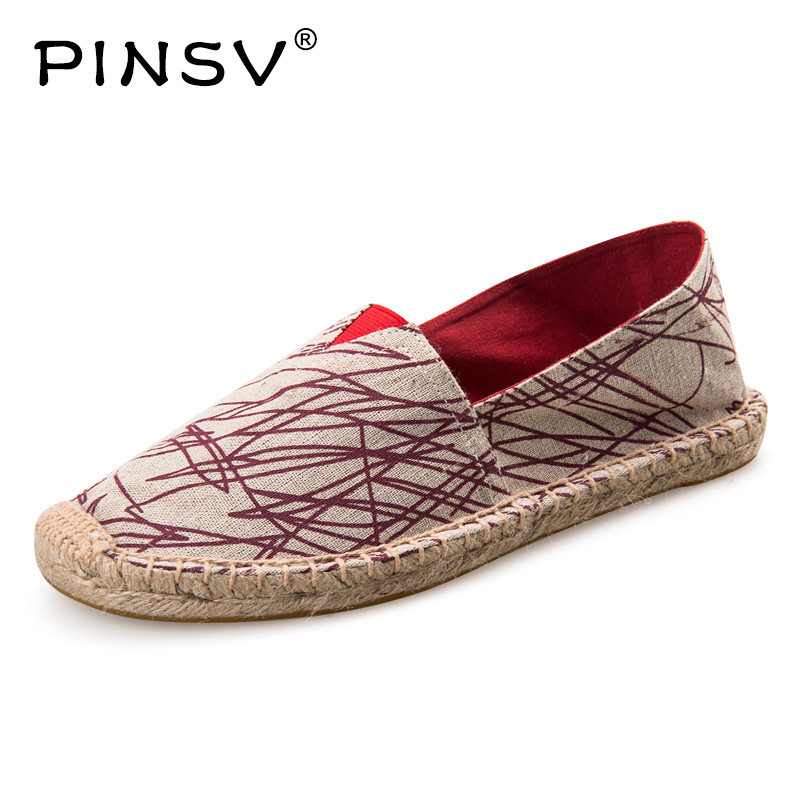 PINSV Casual Shoes Men Sneakers Brand Espadrilles Men Loafers Summer Shoes Men Sneakers Flats Chaussure Homme Sapato Masculino