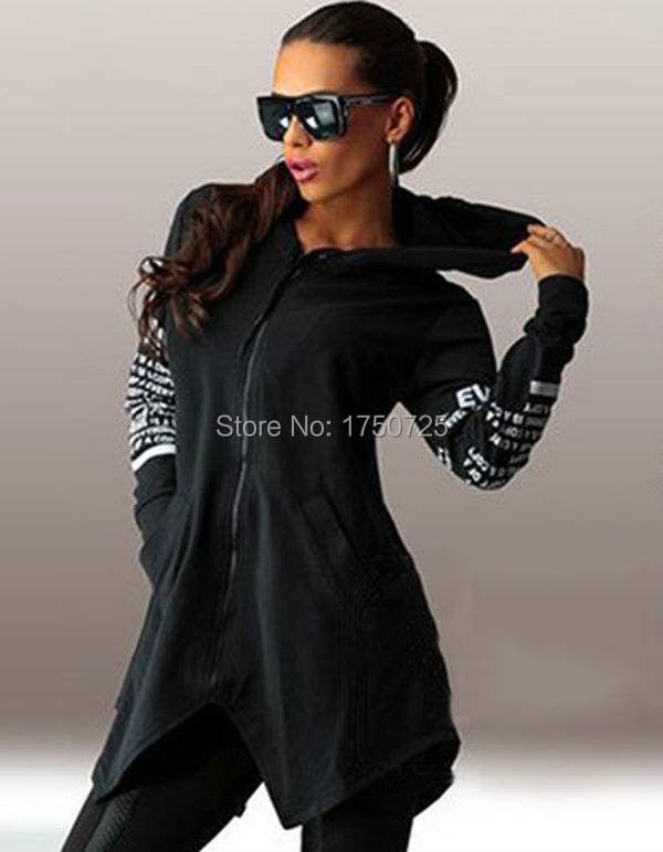 16 autumn winter women Hoodies sweatshirts letter print pullover harajuku plus size zipper irregular top sportswear 3