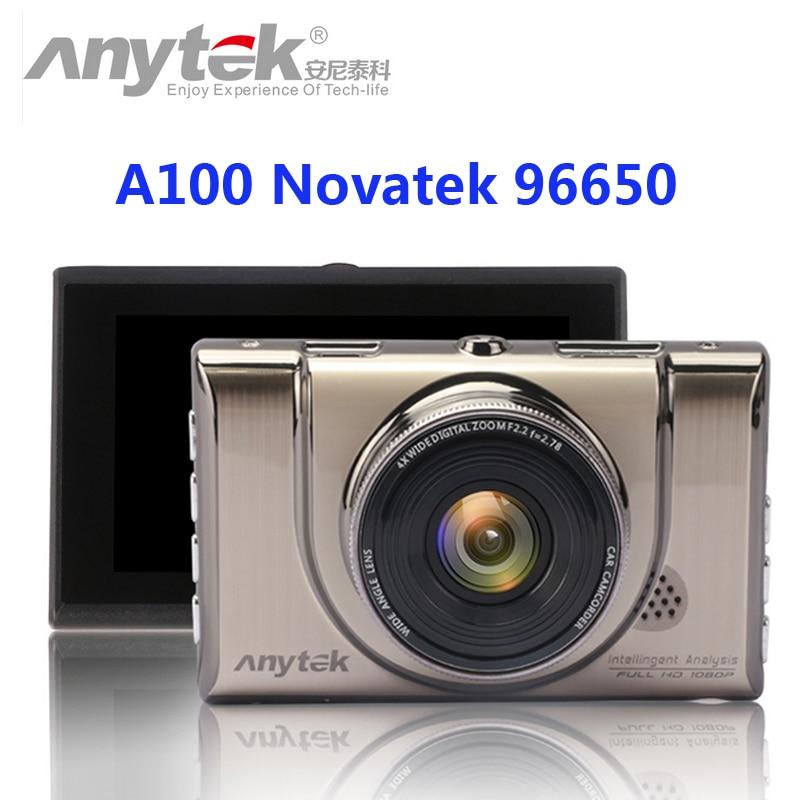 D'origine anytek voiture dvr a100 novatek 96650 voiture caméra ar0330 1080 p wdr parking moniteur de vision nocturne boîte noire