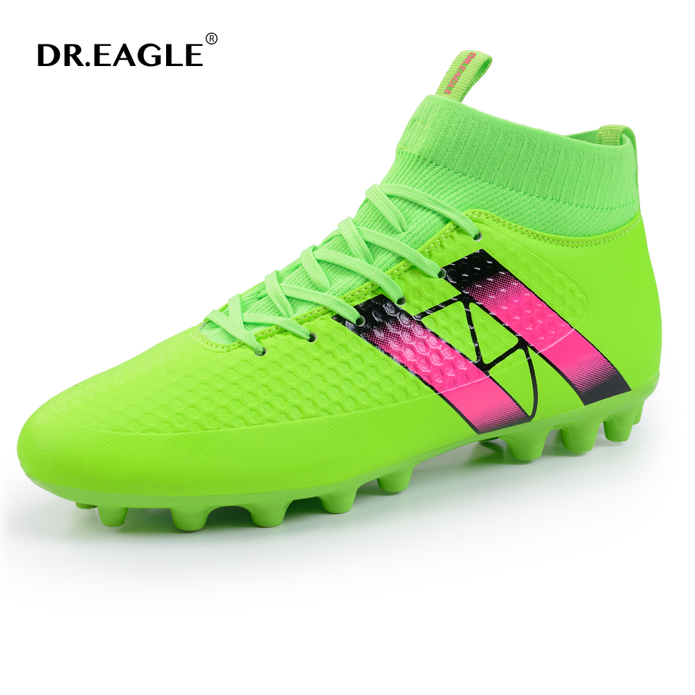 DR.EAGLE original Superfly football boots man Football Shoes with ankle soccer boots footbal shoes sock size 38-45 Sneakers health top soccer shoes kids football boots cleats futsal shoes adult child crushed breathable sport football shoes plus 36 45