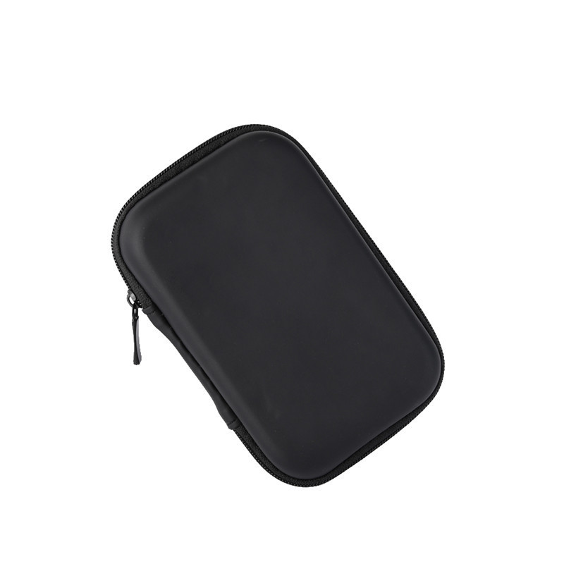 Portable Black PU Bluetooth storage box USB Cable Data Lines Digital Equipment Protective Organizer Box Pouch Bag