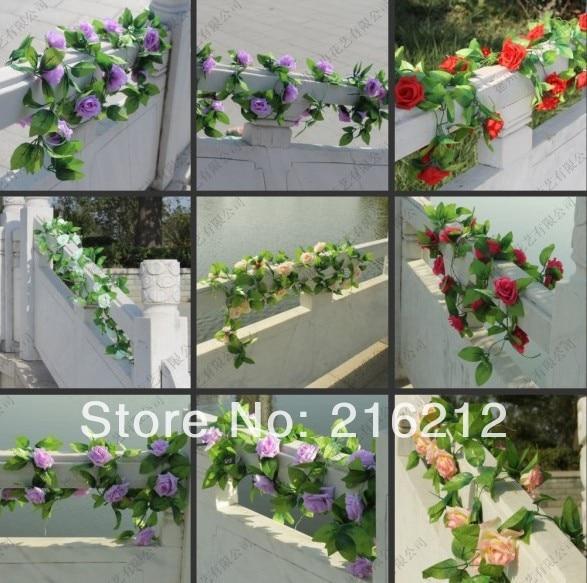 Neu kommen Hochzeitsdekorationenblumenreben künstliche rosafarbene - Partyartikel und Dekoration