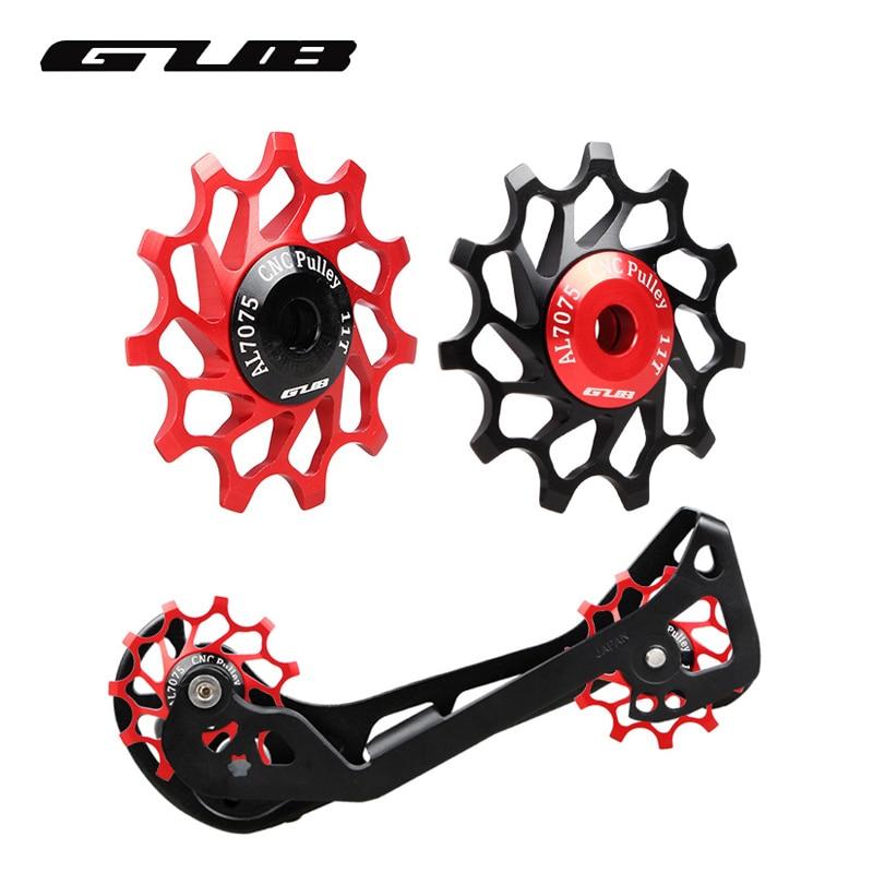 цена на GUB 1pc 11T 12T 14T Bicycle Rear Derailleur Pulley MTB Road Bike Rear Derailleur Pulley Roller Steel Bearing Jockey Wheel