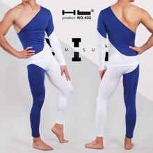 Hb brand  mens thermal underwear long johns.warm suit.Liquid Skin Bodywear.Classic Slim and fashional Long John blue underwear