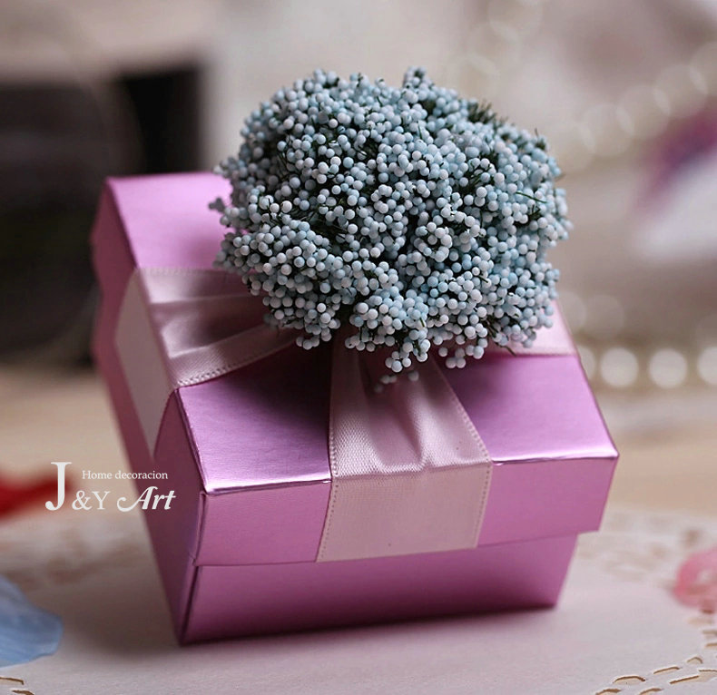 Wedding Decoration Romantic Lavender Candy Boxes Chocolate