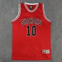Shohoku School Basketball Team 1 15 Sakuragi Hanamichi Jersey Tops Shirt Sports Wear Uniform SLAM DUNK