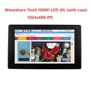 Image 2 - Waveshare 7 بوصة HDMI LCD (H) + الحال ، 1024x600 ، IPS ، بالسعة اللمس LCD ، دعم WIN10 IOT ، فوز 10/8. 1/8/7 ، التوت بي ، الموز بي الخ