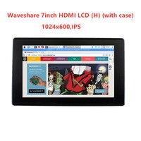 ips win10 Waveshare 7inch HDMI LCD (H) + נרתיק, 1024x600, IPS, LCD מגע קיבולי, תמיכה WIN10 IOT, Win 10 / 8.1 / 8/7, פטל Pi, בננה Pi וכו (2)