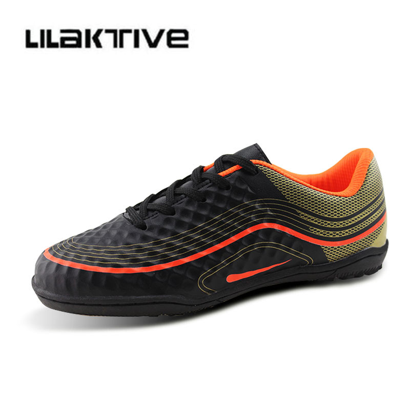 e78c60fe Professional kids soccer shoes boys Indoor breathable sneakers boys Hook &  Loop football shoes children athletics shoes