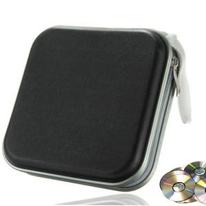40 Disc Box Water Resistant Bag Portable CD DVD Organizer Wallet Case Plastic Portable CD Sleeve Hard Bag Album Box with Zipper(China)