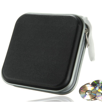 40 Disc Box wodoodporna torba przenośna CD DVD Organizer portfel etui plastikowa przenośna torba CD twarda torba pudełko na album z zamkiem błyskawicznym tanie i dobre opinie RV77 CD Bag Other Cd case