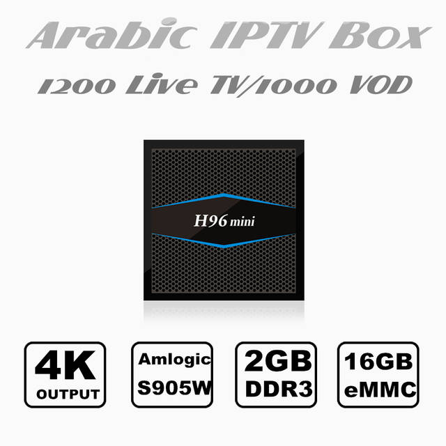 US $79 43 28% OFF|2018 Newest Arabic IPTV Box Free for 1 or 2 year Best  Arabic Iptv Android Server support 1200 HD&4K Channels with 2G+16G  memory-in